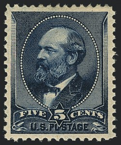 Sale Number 1120, Lot Number 1373, 1887 American Bank Note Co. Issue (Scott 212-218)5c Indigo (216), 5c Indigo (216)