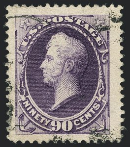 Sale Number 1120, Lot Number 1376, 1887 American Bank Note Co. Issue (Scott 212-218)90c Purple (218), 90c Purple (218)