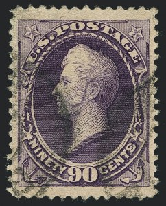 Sale Number 1120, Lot Number 1377, 1887 American Bank Note Co. Issue (Scott 212-218)90c Purple (218), 90c Purple (218)