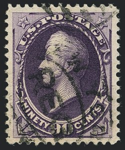 Sale Number 1120, Lot Number 1378, 1887 American Bank Note Co. Issue (Scott 212-218)90c Purple (218), 90c Purple (218)