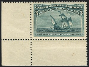 Sale Number 1120, Lot Number 1383, 1893 Columbian Issue (Scott 230-245)3c Columbian (232), 3c Columbian (232)