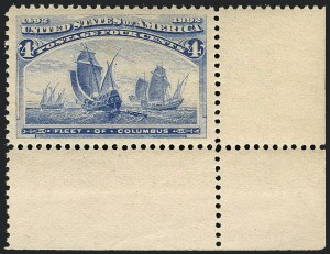 Sale Number 1120, Lot Number 1384, 1893 Columbian Issue (Scott 230-245)4c Columbian (233), 4c Columbian (233)