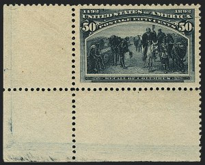 Sale Number 1120, Lot Number 1392, 1893 Columbian Issue (Scott 230-245)50c Columbian (240), 50c Columbian (240)