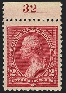 Sale Number 1120, Lot Number 1402, 1894-98 Bureau Issues (Scott 246-284)2c Carmine Lake, Ty. I (249), 2c Carmine Lake, Ty. I (249)
