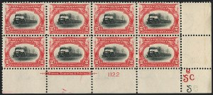 Sale Number 1120, Lot Number 1428, 1901 Pan-American Issue (Scott 294-299)2c Pan-American (295), 2c Pan-American (295)