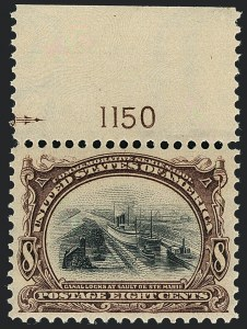 Sale Number 1120, Lot Number 1431, 1901 Pan-American Issue (Scott 294-299)8c Pan-American (298), 8c Pan-American (298)