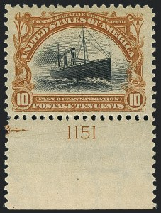 Sale Number 1120, Lot Number 1432, 1901 Pan-American Issue (Scott 294-299)10c Pan-American (299), 10c Pan-American (299)
