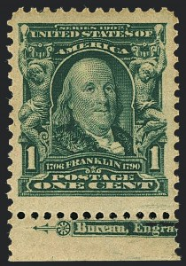 Sale Number 1120, Lot Number 1434, 1902-08 Issues (Scott 300-322)1c Blue Green (300), 1c Blue Green (300)