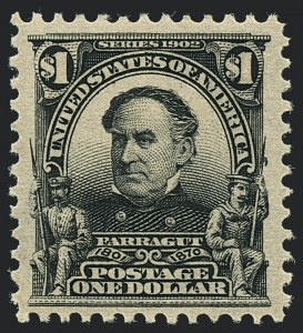 Sale Number 1120, Lot Number 1437, 1902-08 Issues (Scott 300-322)$1.00 Black (311), $1.00 Black (311)