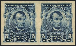 Sale Number 1120, Lot Number 1440, 1902-08 Issues (Scott 300-322)5c Blue, Imperforate (315), 5c Blue, Imperforate (315)