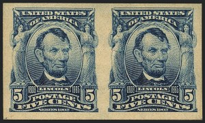 Sale Number 1120, Lot Number 1441, 1902-08 Issues (Scott 300-322)5c Blue, Imperforate (315), 5c Blue, Imperforate (315)