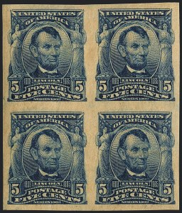 Sale Number 1120, Lot Number 1442, 1902-08 Issues (Scott 300-322)5c Blue, Imperforate (315), 5c Blue, Imperforate (315)