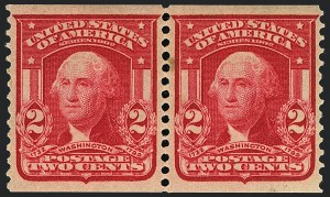 Sale Number 1120, Lot Number 1445, 1902-08 Issues (Scott 300-322)2c Carmine, Coil (322), 2c Carmine, Coil (322)