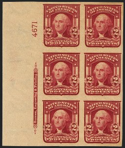 Sale Number 1120, Lot Number 1448, 1902-08 Issues (Scott 300-322)2c Lake, Ty. II, Imperforate (320A; formerly 320a), 2c Lake, Ty. II, Imperforate (320A; formerly 320a)