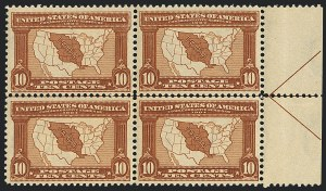 Sale Number 1120, Lot Number 1453, 1904-07 Louisiana Purchase, Jamestown Issues (Scott 323-330)10c Louisiana Purchase (327), 10c Louisiana Purchase (327)