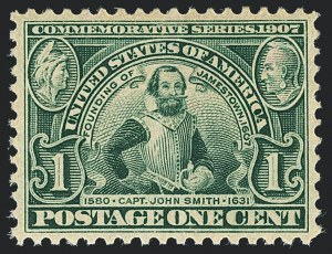 Sale Number 1120, Lot Number 1454, 1904-07 Louisiana Purchase, Jamestown Issues (Scott 323-330)1c Jamestown (328), 1c Jamestown (328)