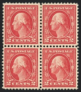 Sale Number 1120, Lot Number 1507, 1913-15 Washington-Franklin Issues (Scott 424-461)2c Pale Carmine Red, Ty. I (461), 2c Pale Carmine Red, Ty. I (461)
