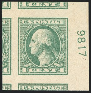 Sale Number 1120, Lot Number 1532, 1918-20 Offset Printing Issues (Scott 525-536)1c Green (531), 1c Green (531)