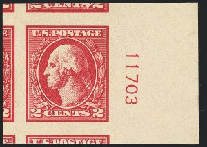 Sale Number 1120, Lot Number 1534, 1918-20 Offset Printing Issues (Scott 525-536)2c Carmine, Ty. VI, Imperforate (534A), 2c Carmine, Ty. VI, Imperforate (534A)