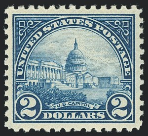 Sale Number 1120, Lot Number 1541, 1922-29 Issues (Scott 551-621)$2.00 Deep Blue (572), $2.00 Deep Blue (572)