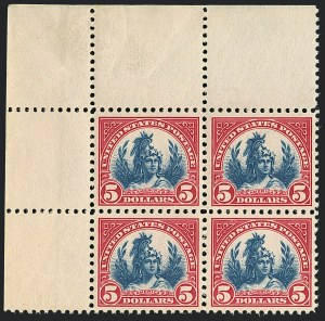 Sale Number 1120, Lot Number 1545, 1922-29 Issues (Scott 551-621)$5.00 Carmine & Blue (573), $5.00 Carmine & Blue (573)