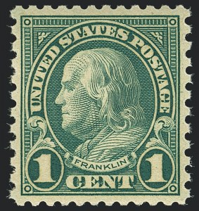 Sale Number 1120, Lot Number 1548, 1922-29 Issues (Scott 551-621)1c Green, Rotary (578), 1c Green, Rotary (578)