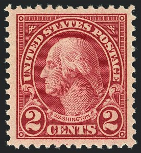 Sale Number 1120, Lot Number 1550, 1922-29 Issues (Scott 551-621)2c Carmine, Rotary, Perf 11 (595), 2c Carmine, Rotary, Perf 11 (595)