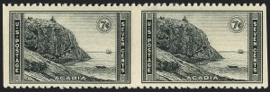 Sale Number 1120, Lot Number 1593, Modern Errors (National Parks Issue, Scott 740a-746a)7c Acadia, Horizontal Pair, Imperforate Vertically (746a), 7c Acadia, Horizontal Pair, Imperforate Vertically (746a)
