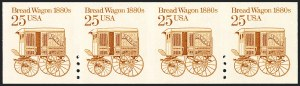 Sale Number 1120, Lot Number 1634, Modern Errors (Scott 1947a-3265c )25c Bread Wagon, Coil, Imperforate Between (2136b), 25c Bread Wagon, Coil, Imperforate Between (2136b)