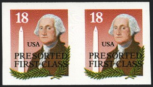 Sale Number 1120, Lot Number 1636, Modern Errors (Scott 1947a-3265c )18c Washington & Monument, Bureau Precanceled Coil, Imperforate (2149c), 18c Washington & Monument, Bureau Precanceled Coil, Imperforate (2149c)