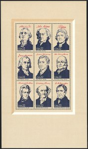 Sale Number 1120, Lot Number 1637, Modern Errors (Scott 1947a-3265c )22c Ameripex Souvenir Sheet, Black Inscriptions Omitted (2216k), 22c Ameripex Souvenir Sheet, Black Inscriptions Omitted (2216k)