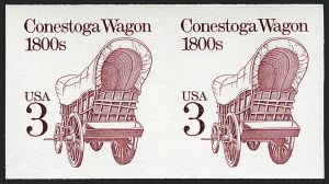 Sale Number 1120, Lot Number 1639, Modern Errors (Scott 1947a-3265c )3c Conestoga Wagon, Coil, Imperforate (2252b), 3c Conestoga Wagon, Coil, Imperforate (2252b)