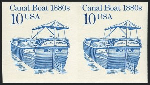 Sale Number 1120, Lot Number 1640, Modern Errors (Scott 1947a-3265c )10c Canal Boat, Coil, Imperforate (2257e), 10c Canal Boat, Coil, Imperforate (2257e)