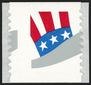 Sale Number 1120, Lot Number 1642, Modern Errors (Scott 1947a-3265c )(33c) H Rate Uncle Sam's Hat, Black Omitted (3265c), (33c) H Rate Uncle Sam's Hat, Black Omitted (3265c)