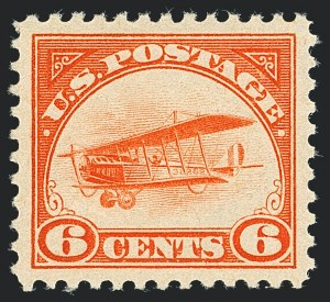 Sale Number 1120, Lot Number 1656, Air Post6c Orange, 1918 Air Post (C1), 6c Orange, 1918 Air Post (C1)