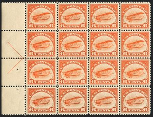 Sale Number 1120, Lot Number 1657, Air Post6c Orange, 1918 Air Post (C1), 6c Orange, 1918 Air Post (C1)