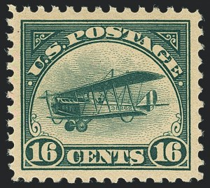 Sale Number 1120, Lot Number 1658, Air Post16c Green, 1918 Air Post (C2), 16c Green, 1918 Air Post (C2)