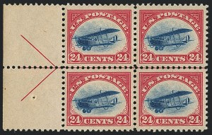 Sale Number 1120, Lot Number 1659, Air Post24c Carmine Rose & Blue, 1918 Air Post (C3), 24c Carmine Rose & Blue, 1918 Air Post (C3)