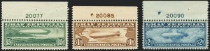 Sale Number 1120, Lot Number 1662, Air Post65c-$2.60 Graf Zeppelin (C13-C15), 65c-$2.60 Graf Zeppelin (C13-C15)