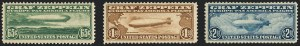 Sale Number 1120, Lot Number 1665, Air Post65c-$2.60 Graf Zeppelin (C13-C15), 65c-$2.60 Graf Zeppelin (C13-C15)