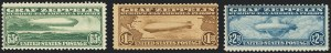 Sale Number 1120, Lot Number 1667, Air Post65c-$2.60 Graf Zeppelin (C13-C15), 65c-$2.60 Graf Zeppelin (C13-C15)