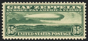 Sale Number 1120, Lot Number 1669, Air Post65c Graf Zeppelin (C13), 65c Graf Zeppelin (C13)