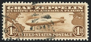 Sale Number 1120, Lot Number 1670, Air Post$1.30 Graf Zeppelin (C14), $1.30 Graf Zeppelin (C14)