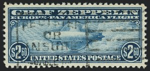 Sale Number 1120, Lot Number 1671, Air Post$2.60 Graf Zeppelin (C15), $2.60 Graf Zeppelin (C15)