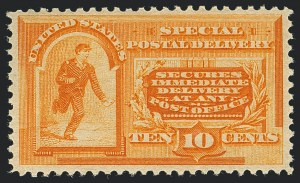 Sale Number 1120, Lot Number 1672, Special Delivery, Registration10c Orange, Special Delivery (E3), 10c Orange, Special Delivery (E3)