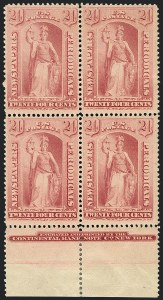 Sale Number 1120, Lot Number 1695, Newspapers and Periodicals24c Pink, 1894 Issue (PR96). Mint N.H, 24c Pink, 1894 Issue (PR96). Mint N.H