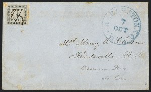 Sale Number 1120, Lot Number 1704, Carrier Issues(Honour's) City Post, Charleston S.C., 2c Black (4LB3), (Honour's) City Post, Charleston S.C., 2c Black (4LB3)