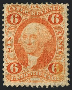 Sale Number 1121, Lot Number 2002, First Issue Revenues6c Proprietary, Perforated (R31c), 6c Proprietary, Perforated (R31c)