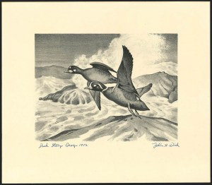 Sale Number 1121, Lot Number 2080, Hunting Permit Prints (RW12-RW20)Harlequin Ducks, First Edition (RW19), Harlequin Ducks, First Edition (RW19)