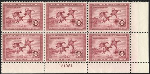 Sale Number 1121, Lot Number 2109, Hunting Permit Stamps (RW2-RW3)$1.00 1935 Hunting Permit (RW2), $1.00 1935 Hunting Permit (RW2)